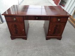 Angol mahagóni íróasztal