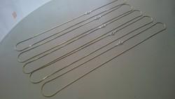 Aranyozott ezüst nyaklánc.  925.  50 cm