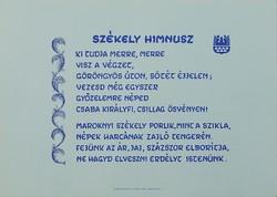 0V836 Székely Himnusz nyomat 30 x 42 cm