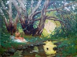 """Mihály Gyula ( 1896 -  ) """" Napsütötte patak """""""