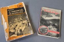 Roy Chapman Andrews: A sarkoktól az egyenlítőig és régi Turistakönyv, antik könyvek