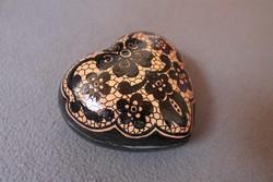 Szemlér Magda jelzett kerámia, szív alakú ékszertartó