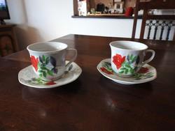 Sarir - German style rózsamintás csésze pár