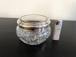 Ezüst/kristály pipere tartó