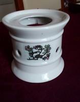 Fehér, porcelán mécsestartó, melegen tartó