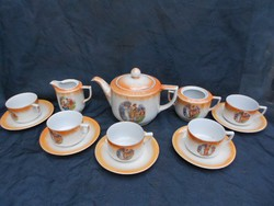 Drasche Budapest porcelán teás vagy kávéskészlet.1930-as évek.