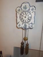 Antik schwarzwaldi típusú porcelán parasztóra falióra