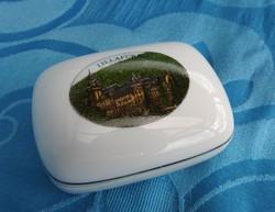 Hollóházi bonbonier : LILLAFÜRED -i vár képével