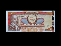 UNC - 20 GOURDES - HAITI - 2001 Ritka!