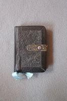 Mi Atyánk, Keresztény Katholikusok imádságos könyve, bőr kötéses antik könyv