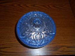 Régi kék  üveg  doboz-bonbonier