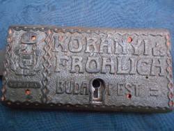 Korányi és Frölrich Budapest zár.1800-as évek vége.Ritka.