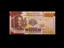 UNC - 1000 FRANCS - GUINEA - 2017 (Új pénz!)