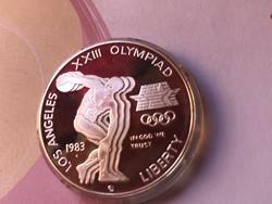 1983 USA ezüst 1 dollár 26,7 gramm 0,900 PP