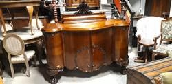 Antik barokk tálalószekrény komód