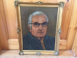 Férfi portré blondel keretben