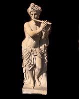 Bacchus márvány szobor(életnagyságú)a bor istene