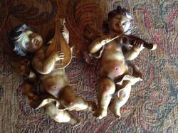 Gyönyörű antik  angyalok , puttók párban ...
