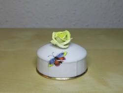 Herendi porcelán teafűtartó fedő koronás jegyű címkével szép állapotban