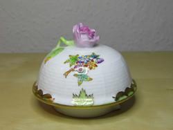 Herendi porcelán kávéskanna fedő VBO Viktória mintával szép álapotban