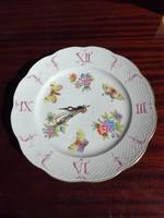 Herendi Viktória mintás fali óra, tányér óra