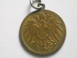 1 pfennig réz medál,1900.