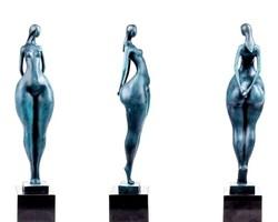 Óriási art deco női akt - Tekintélyes alkotás