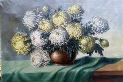 Benczúr Ida nagyméretű festménye. Olaj,vászon .Mérete: 70x100 cm