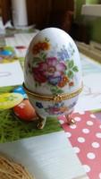 Porcelán tojás, Fabergé tojás eladó!Ékszertartó, cukor tartó eladó!