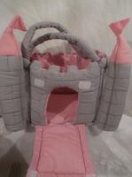 Játék - textil - táska - vár alakú - tornyai tépőzárasak - levehetők - 26 x 20 x 18 cm újszerű