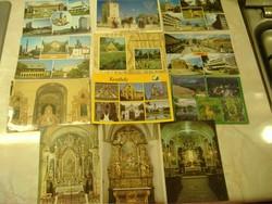 RÉGI POSTATISZTA KÉPESLAPOK: Tihany, Apátsági templom főoltára, Sárospatak, R.k.templom, mellékoltár