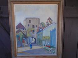 SL. szignóval olajvászon festmény 56 x 47 cm