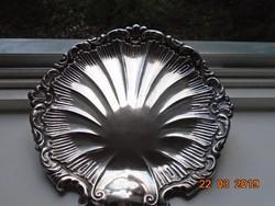 Wiskemann,Otto-Leonard (1852-1909) svájci-belga ezüstműves szignós Rokokó tál