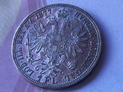 1877 ezüst Florin szép darab