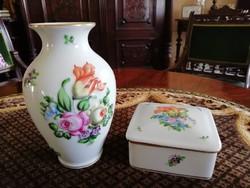 Herendi Bouquet De Tulpine váza és ékszertartó egyben
