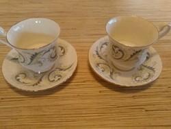 Royal Standard porcelán kávés csészék kistányéral.