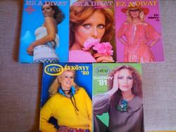 EZ A DIVAT évkönyvek (1977-81) igazi RETRO!