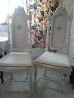 2 szépséges trónszék. szék magas támlával