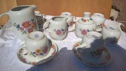 Nagyon régi Alföldi porcelán teás / kávés készlet
