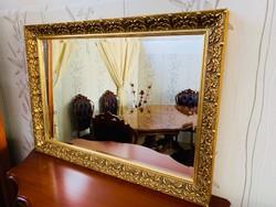 Barokk aranyozott tömör fa tükör