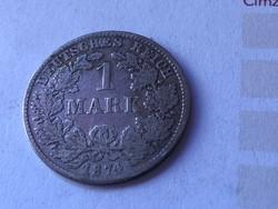 """1874""""D""""ezüst 1 márka 5,5 gramm 0,900"""