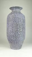 0V978 M. Kiss Katalin lila kerámia váza 37.5 cm