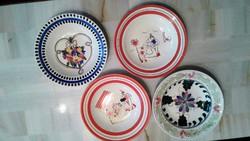 Festett gránit fali tányérok az 50-es évekből