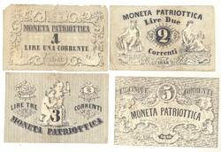 1,2,3,5 lira Moneta Patriottica 1848 Olaszország Velence