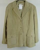 0W299 Quelle drapp hasított bőr férfi kabát 52