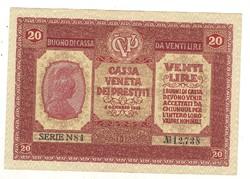 """20 lira 1918 """"XF"""" Olaszország"""