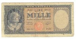 1000 lira 1959 Menichella és Boggione Olaszország