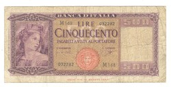 500 lira 1961 Carli és Ripa Olaszország