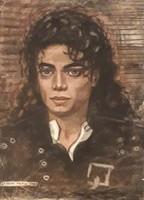 Michael Jackson pasztell-papír alkotás