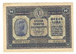 """10 lira 1918 """"EF"""" Olaszország"""